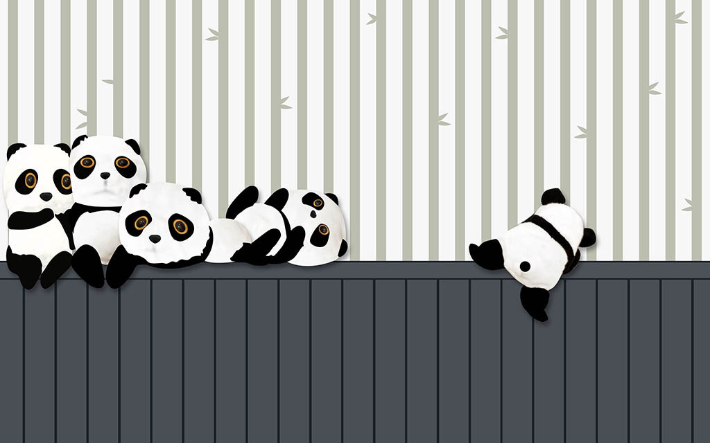 背景墙|装饰画 电视背景墙 儿童房背景墙 > 卡通熊猫背景墙  版权图片图片
