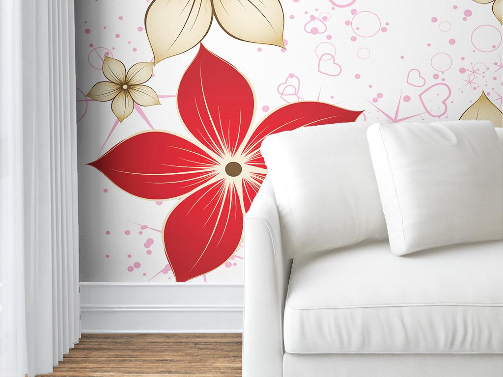 现代简约手绘室内壁纸墙纸