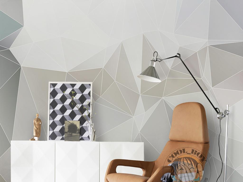 几何简单线条三角形手绘现代简约墙纸