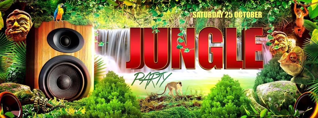 自然天堂丛林聚会野生动物乐园创意海报