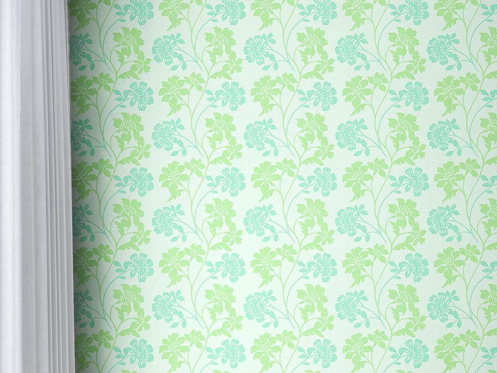 藤蔓欧式纹理花朵无缝墙纸背景墙