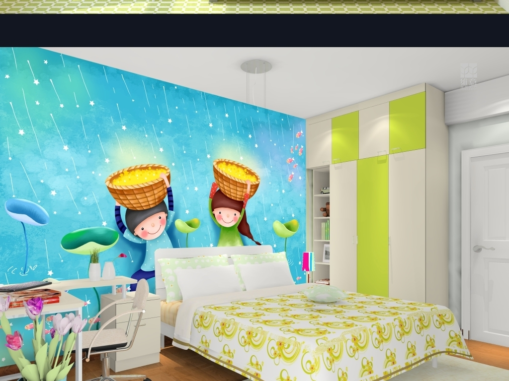 儿童房                                  儿童房装饰画宝宝房间