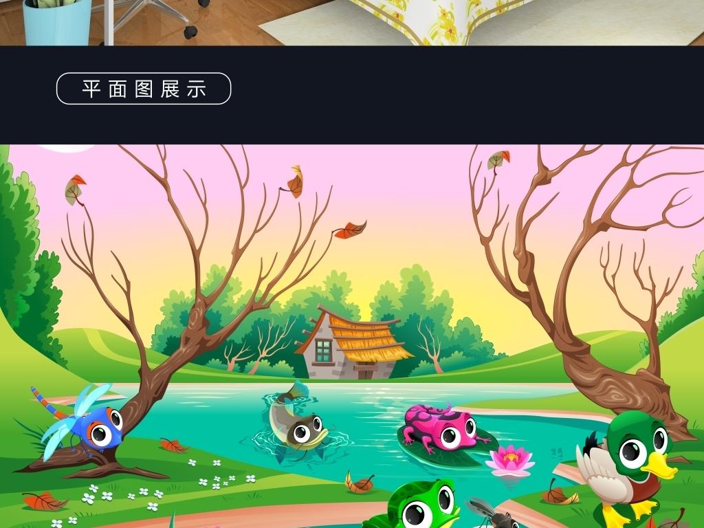 手绘插画动物夏天动物世界卡通卡通动物世界动物世界图片森林动物世界