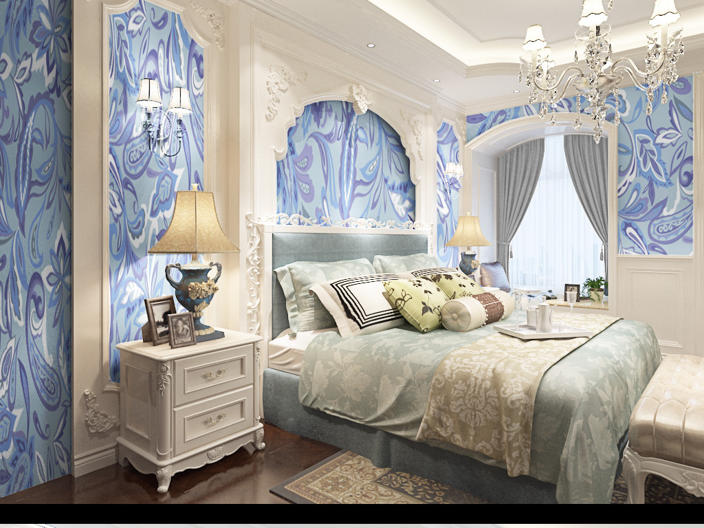 高清漂亮欧式花纹墙纸壁纸图片