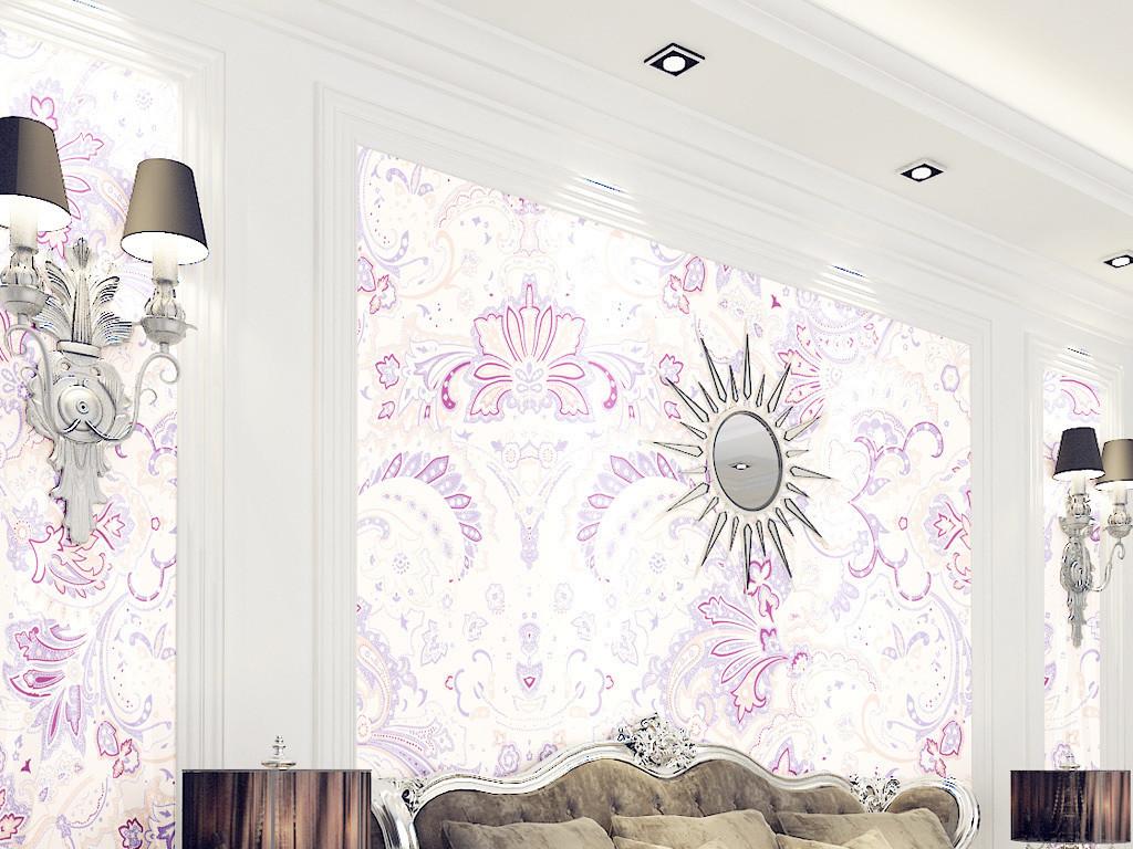 设计作品简介: 高清欧式花纹墙纸 位图, rgb格式高清大图,使用软件为图片