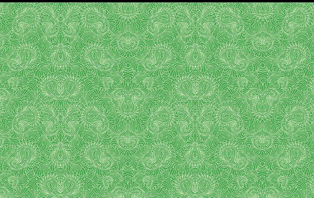 绿色背景白色线框时尚花纹壁纸墙纸(图片编号:)