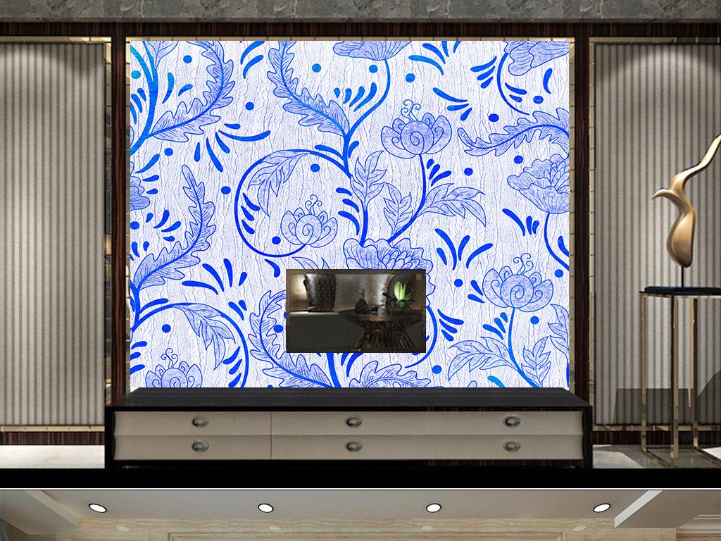欧式花纹背景墙纸图纹理贴纸电视墙体温馨图图片