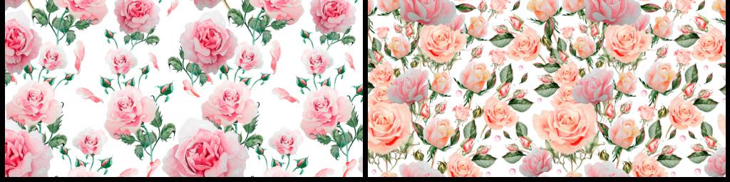 大型韩式水彩手绘花朵花卉素材包