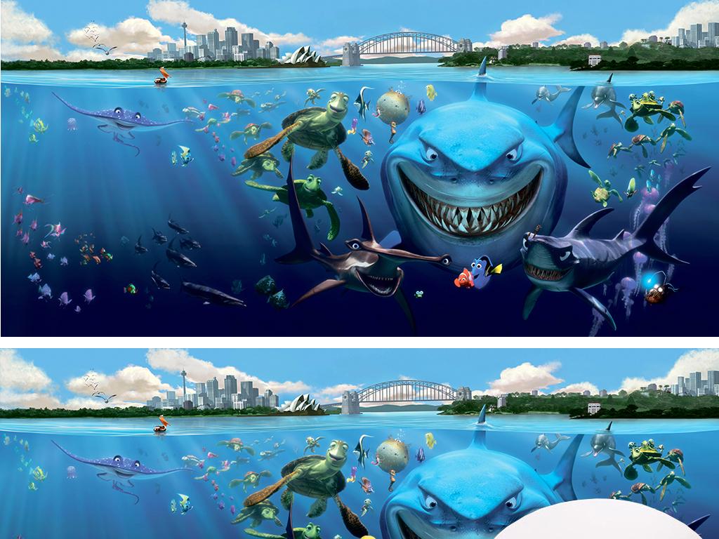 背景墙|装饰画 电视背景墙 儿童房背景墙 > 工装海洋世界水族馆海洋馆