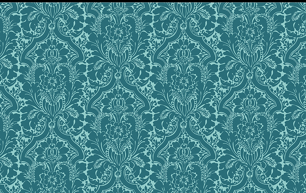 设计作品简介: 欧式花纹蓝色花纹墙纸 位图, rgb格式高清大图,使用图片