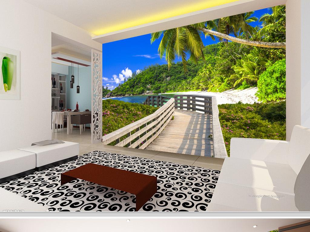 我图网提供精品流行木栈道沙滩海岛风景3D电视背景墙素材下载,作品模板源文件可以编辑替换,设计作品简介: 木栈道沙滩海岛风景3D电视背景墙 位图, RGB格式高清大图,使用软件为 Photoshop CS5(.psd)
