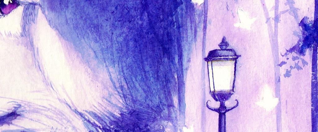 创意手绘水彩狼图案无框画