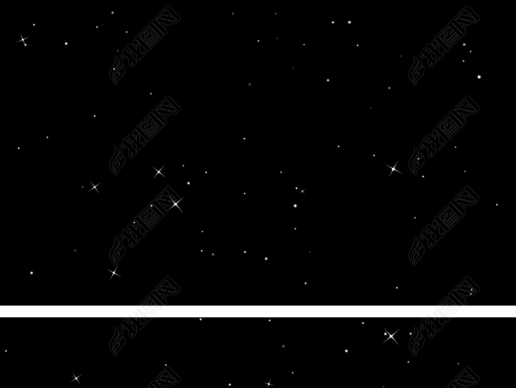 带通道星光闪烁视频素材