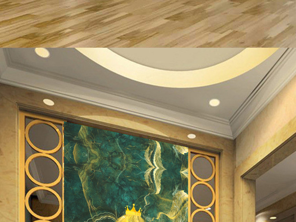 欧式精美动感线条公主大理石纹玄关背景墙
