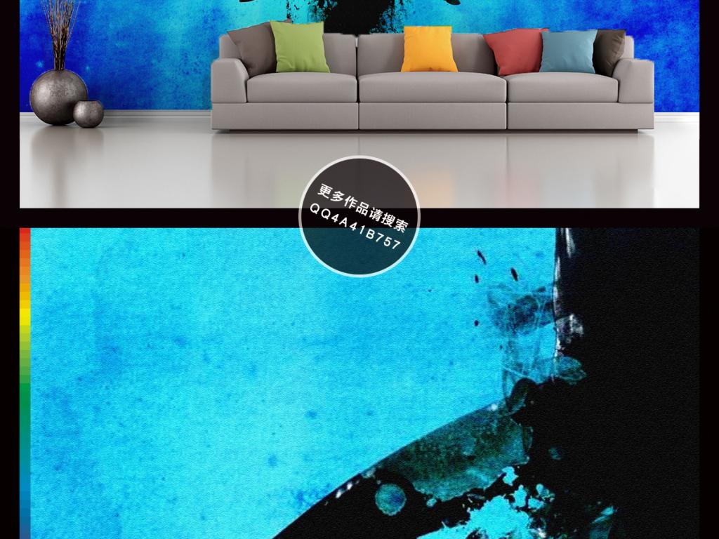 背景墙|装饰画 电视背景墙 手绘电视背景墙 > 3d海底世界鲨鱼电视背景