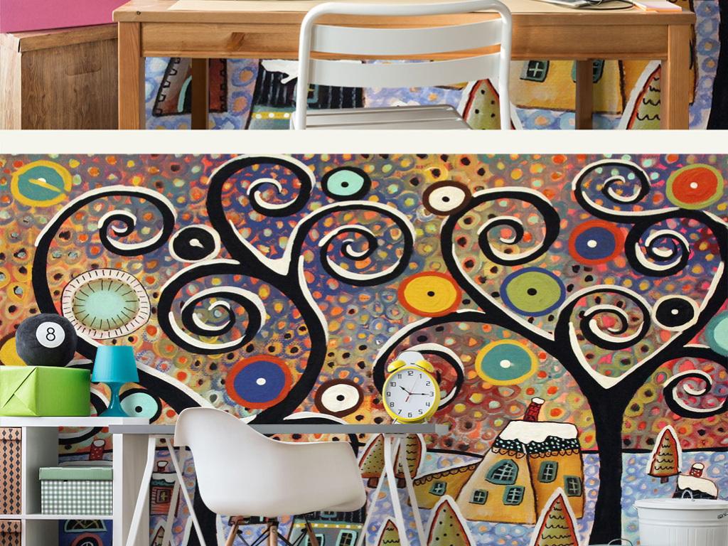 幼儿园可爱儿童房壁纸儿童房墙纸儿童房模型儿童房挂