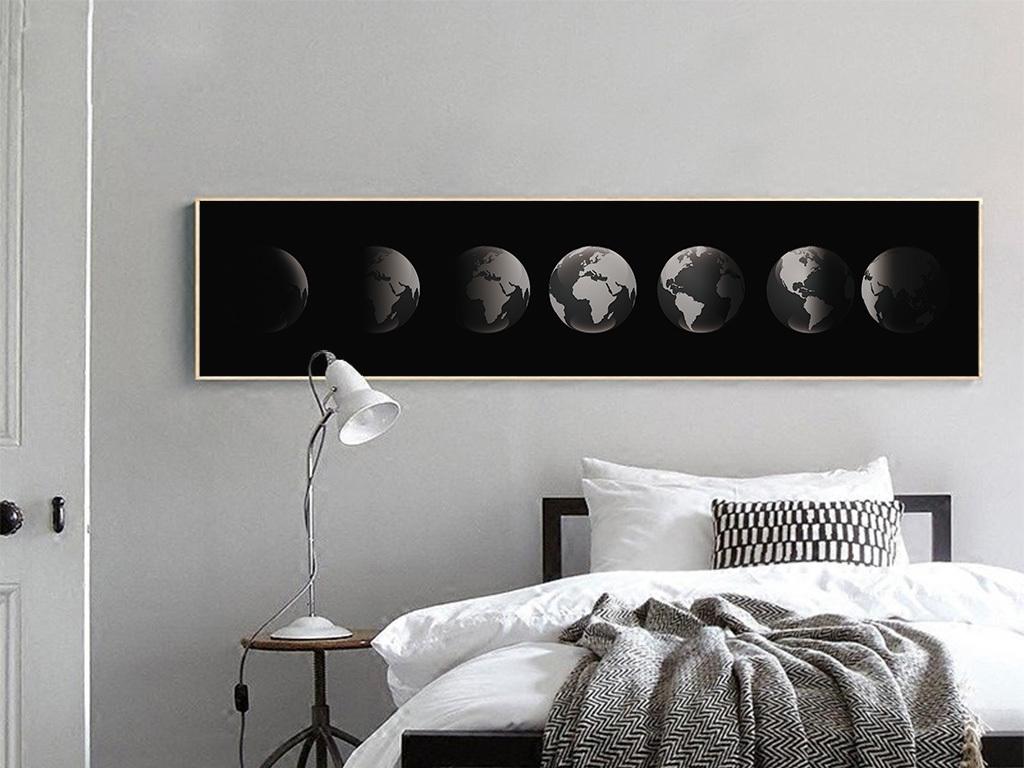 极简卧室黑白摄影白极简装修风格卧室图片1