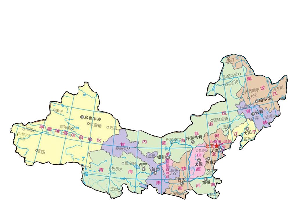 中国区域划分图