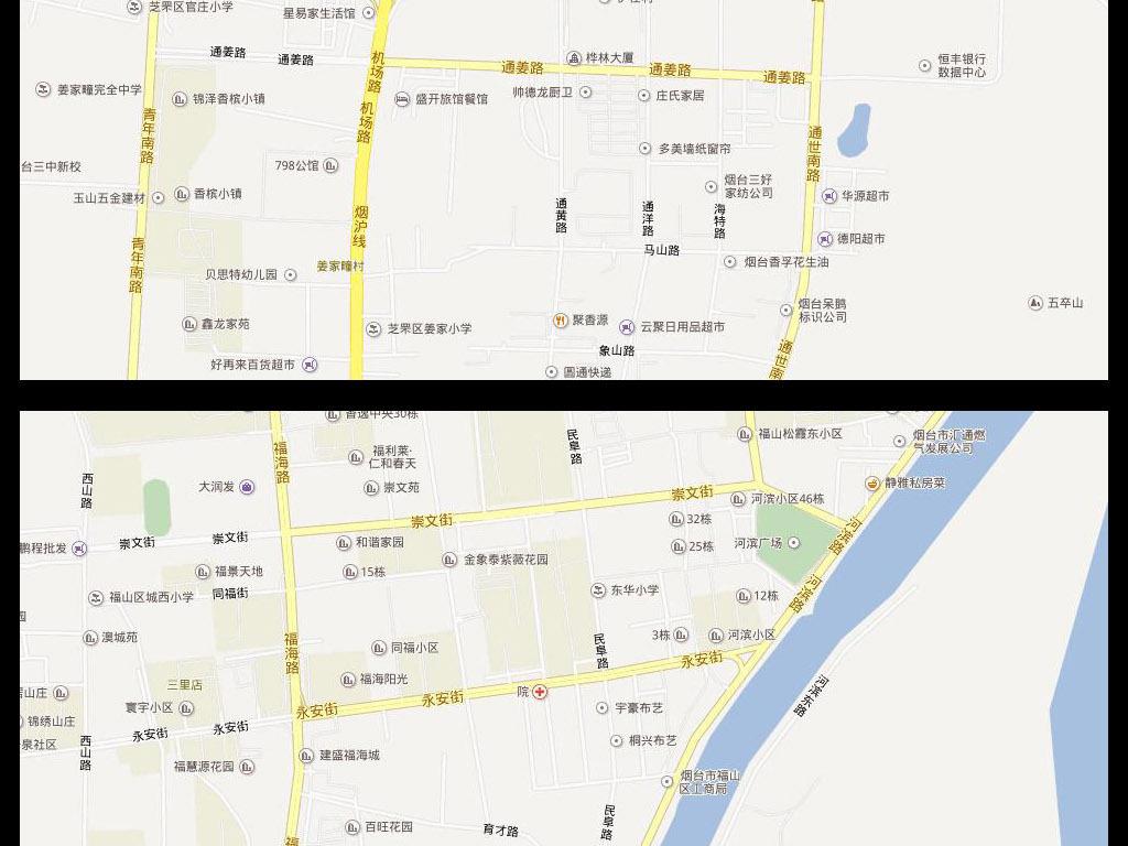 2016烟台市电子地图烟台市地图