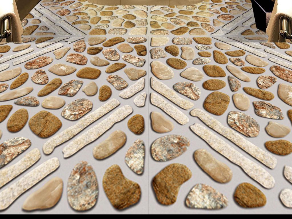 3d地板 鹅卵石图片