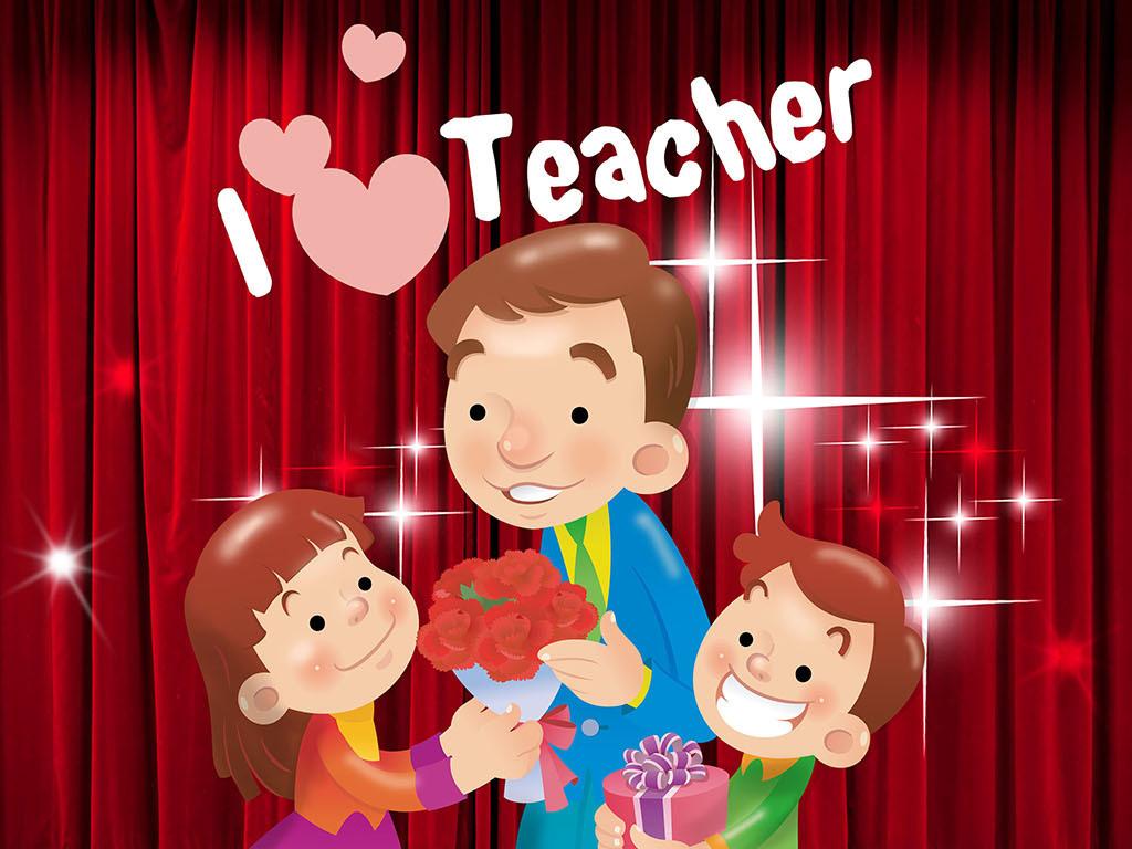 教师节卡通海报设计图片