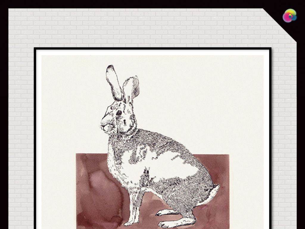 欧式简约动物装饰画