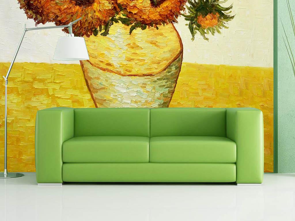 手绘背景墙                                  太阳花