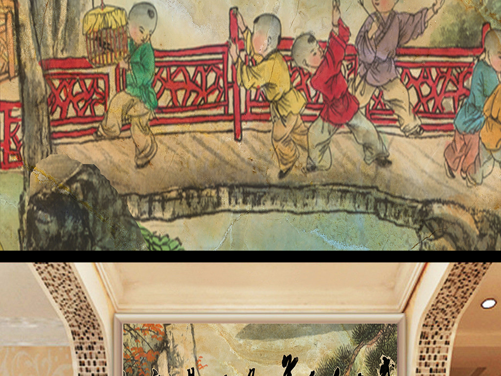 国外古代家具手绘图