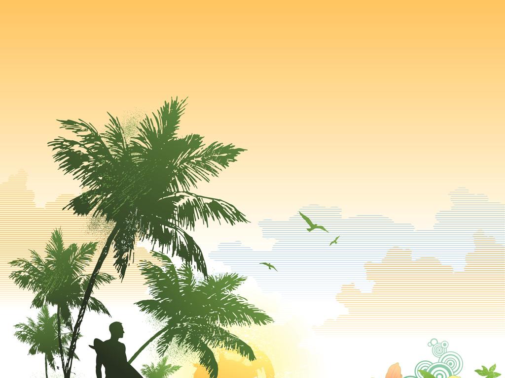 矢量椰树沙滩椰树海岛椰树椰树剪影卡通椰树椰树风光椰树矢量椰树log