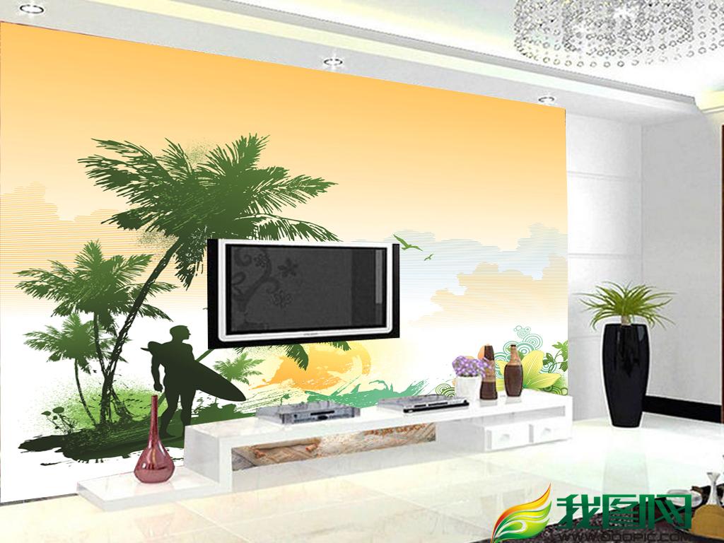 矢量椰树沙滩椰树海岛椰树椰树剪影卡通椰树椰树风光椰树矢量椰树logo