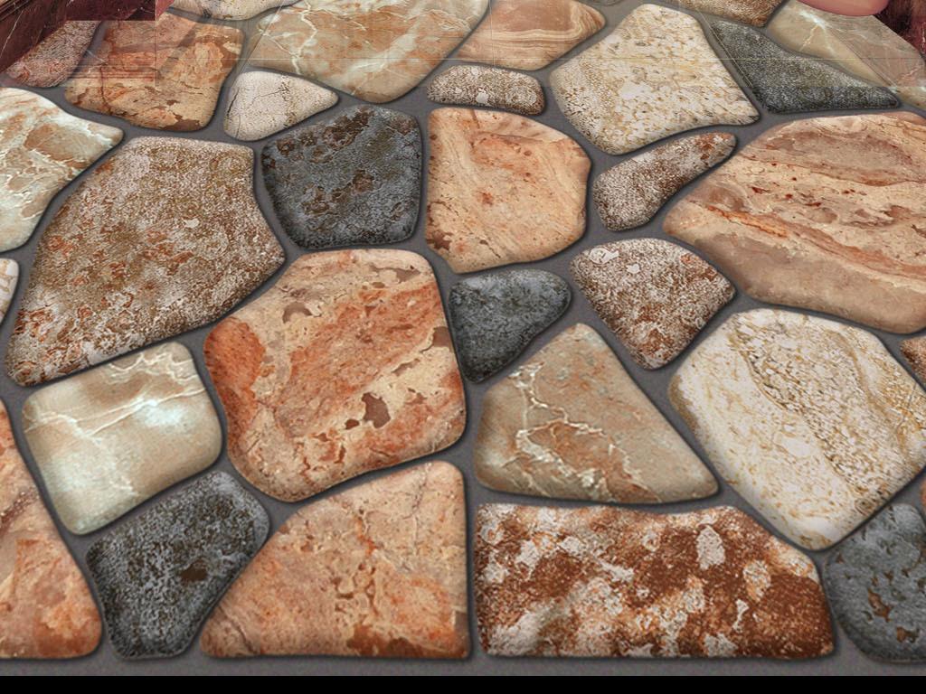 op CS .tif不分层 -3D地板画体鹅卵石 15577713 拼花地板