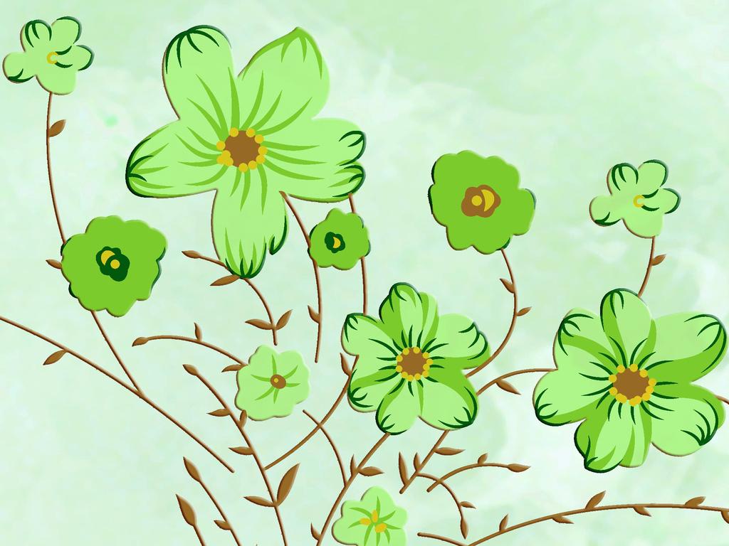 电视背景墙欧式 花朵欧式手绘花朵