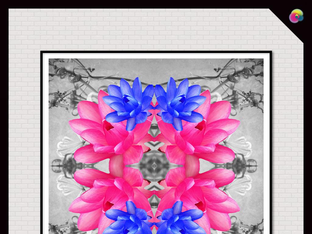文艺花卉插画手绘