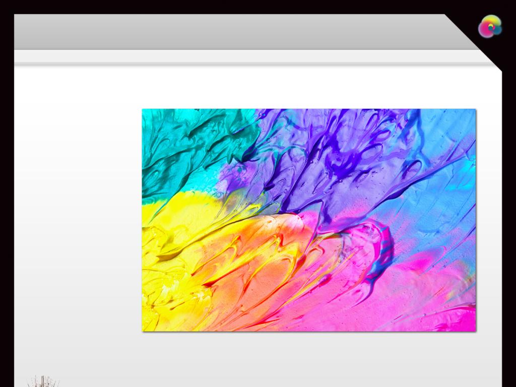 彩色抽象手绘油墨装饰画无框画