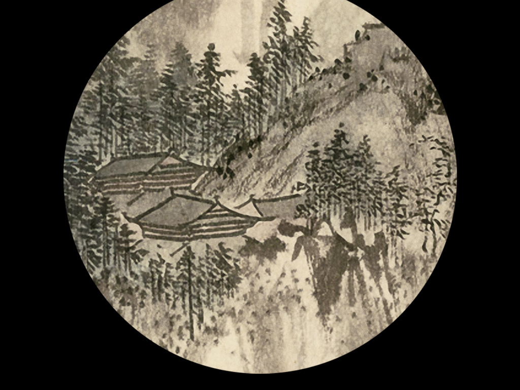 高清中国风古典水墨花鸟风景装饰画