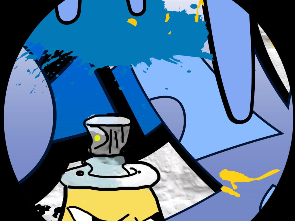 简约手绘壁纸涂鸦