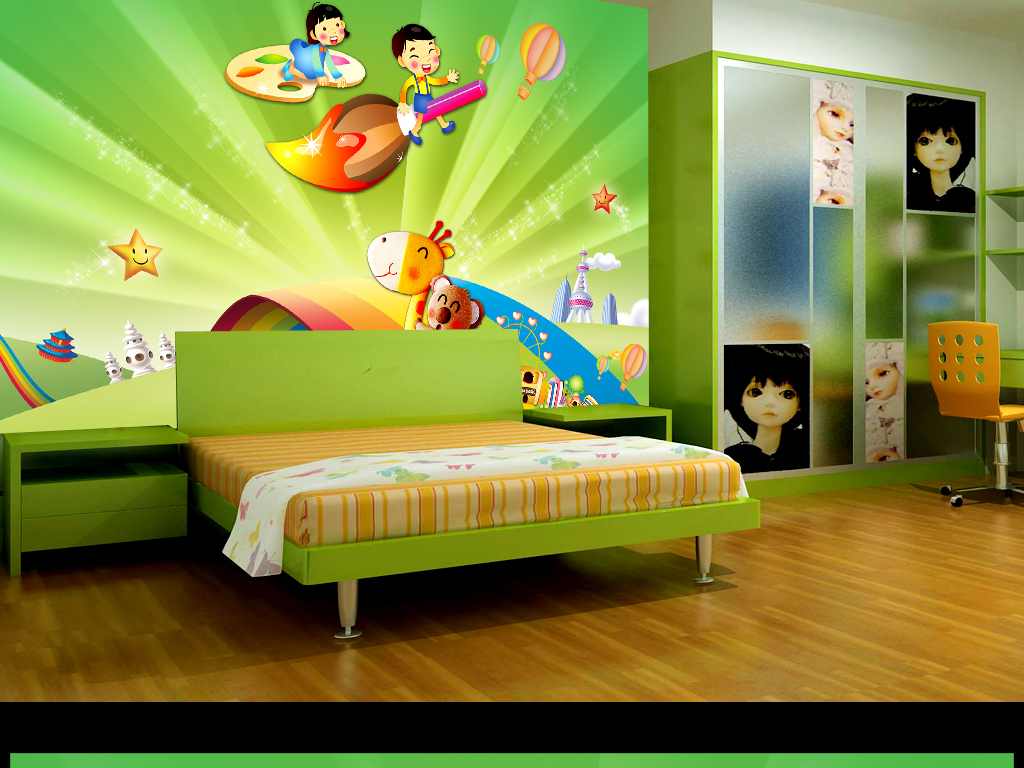电视沙发装修卧室手绘pop