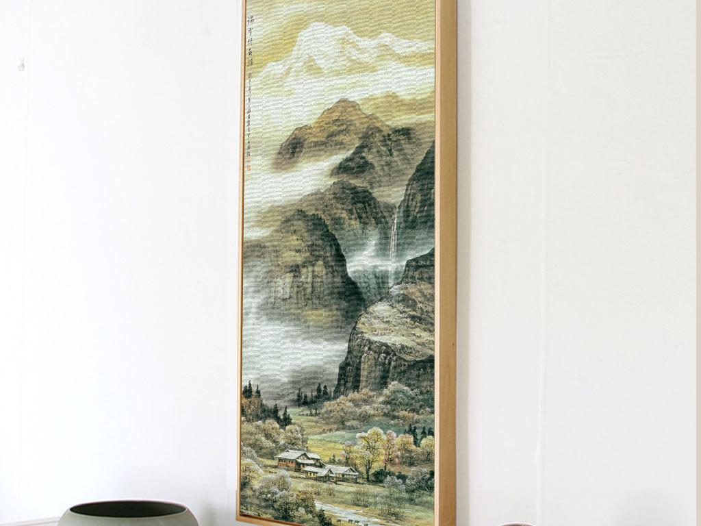 新中式山水画无框画图片