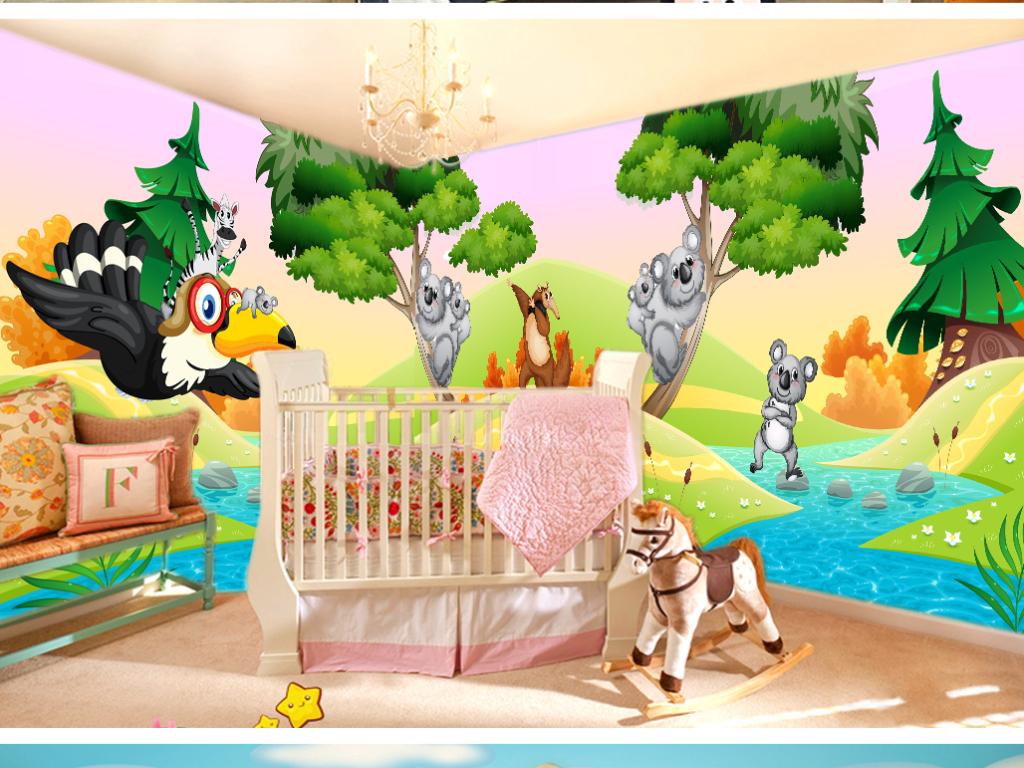 我图网提供精品流行创意卡通动物世界儿童婴儿房主题森林背景墙素材下载,作品模板源文件可以编辑替换,设计作品简介: 创意卡通动物世界儿童婴儿房主题森林背景墙 位图, RGB格式高清大图,使用软件为 Photoshop CS5(.psd)