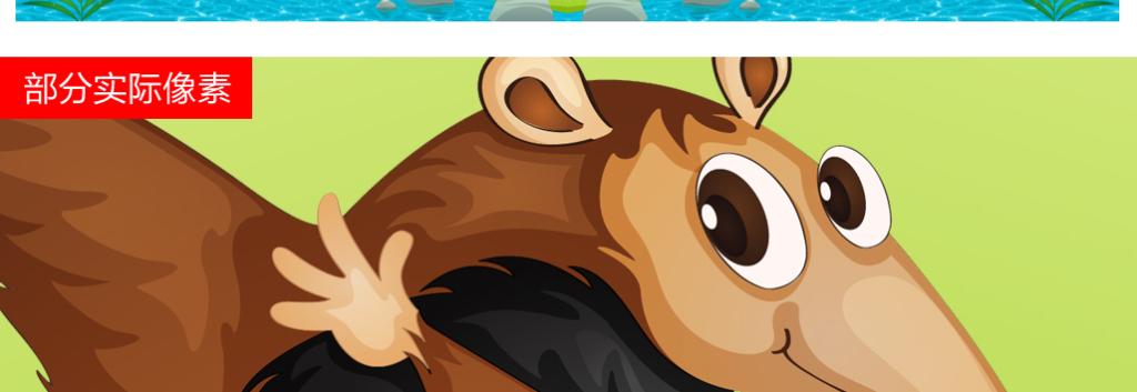 创意卡通动物世界儿童婴儿房主题森林背景墙