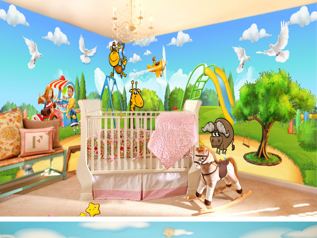 壁纸动物世界背景墙