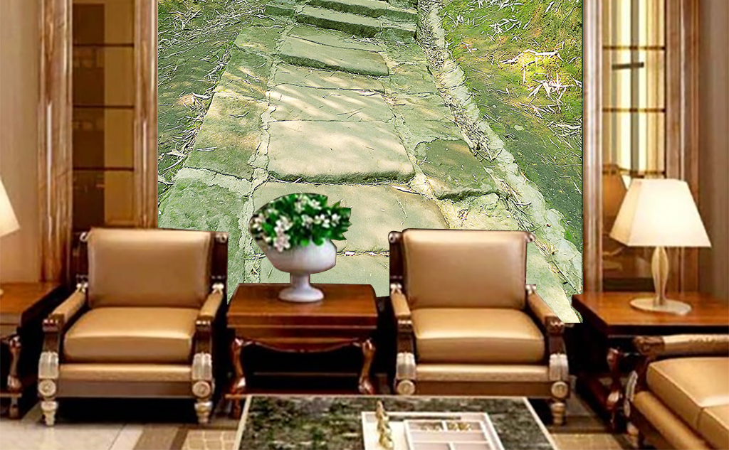 竹林小路玄关壁纸