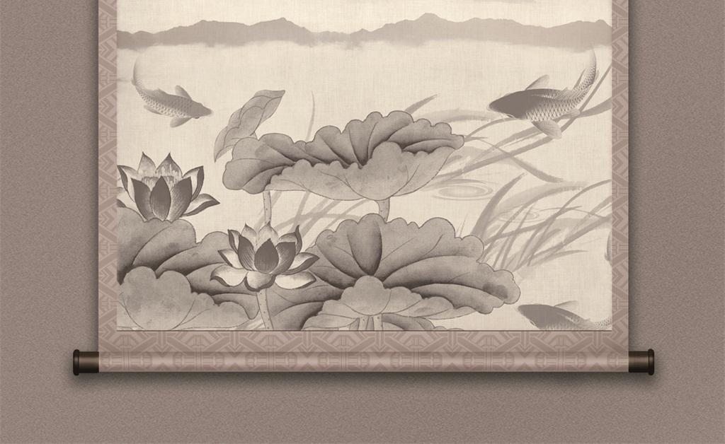 水墨文化山水风景挂画