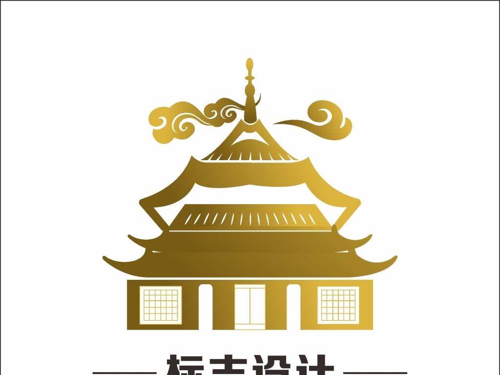 古建筑logo标志