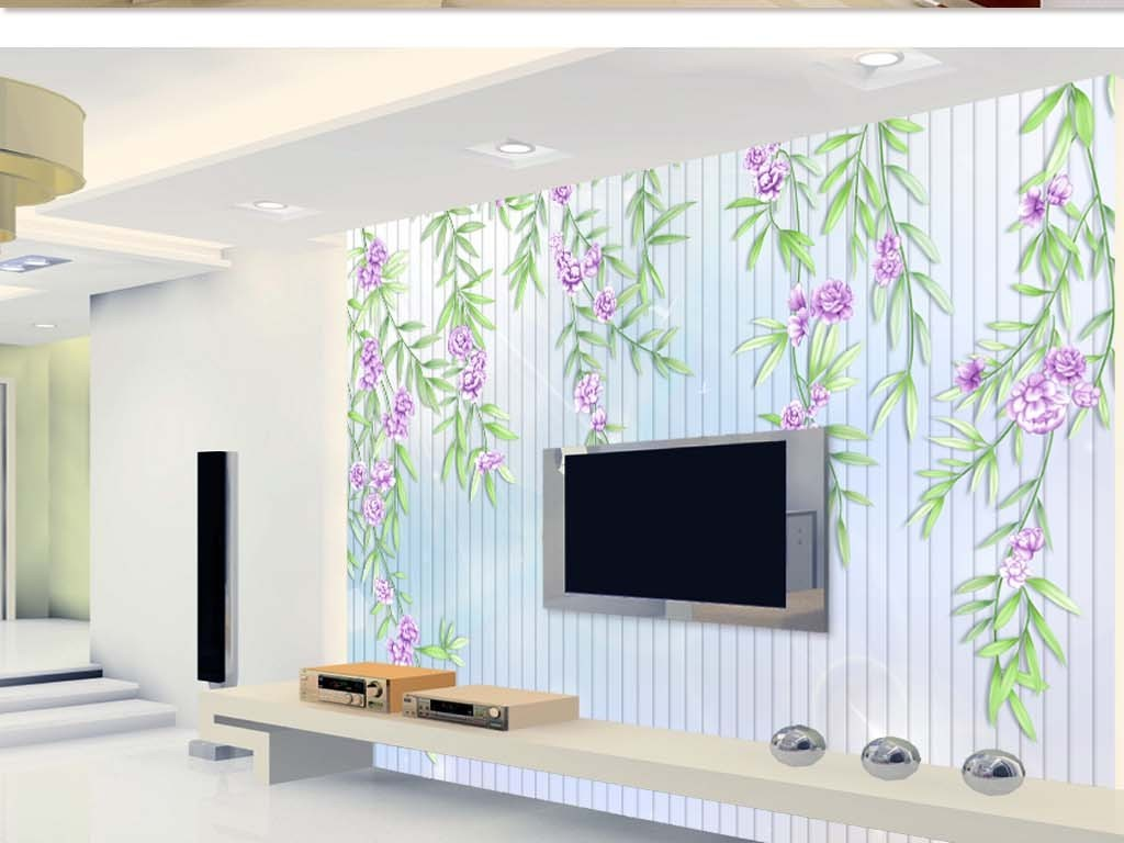 小清新藤蔓背景墙