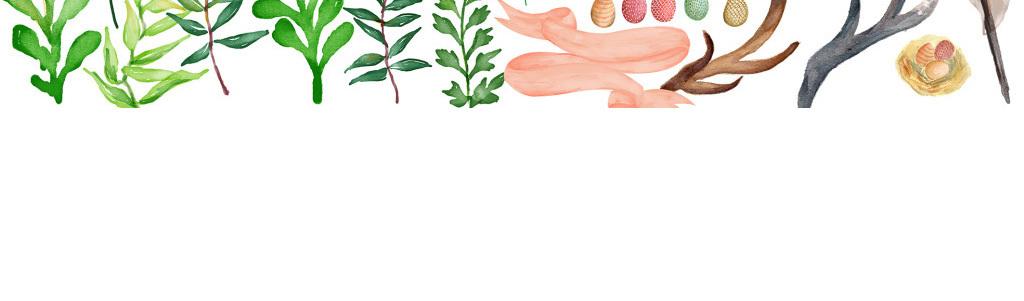 树枝精灵森系素材psd蝴蝶插画手绘花环树林爱丽丝绿叶仙踪鹿
