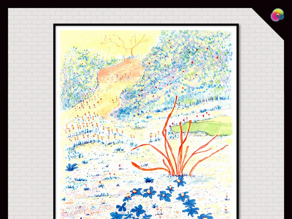 小清新                                  水彩画手绘植物花卉