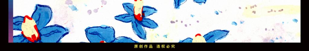 高清手绘淡雅植物花卉装饰画