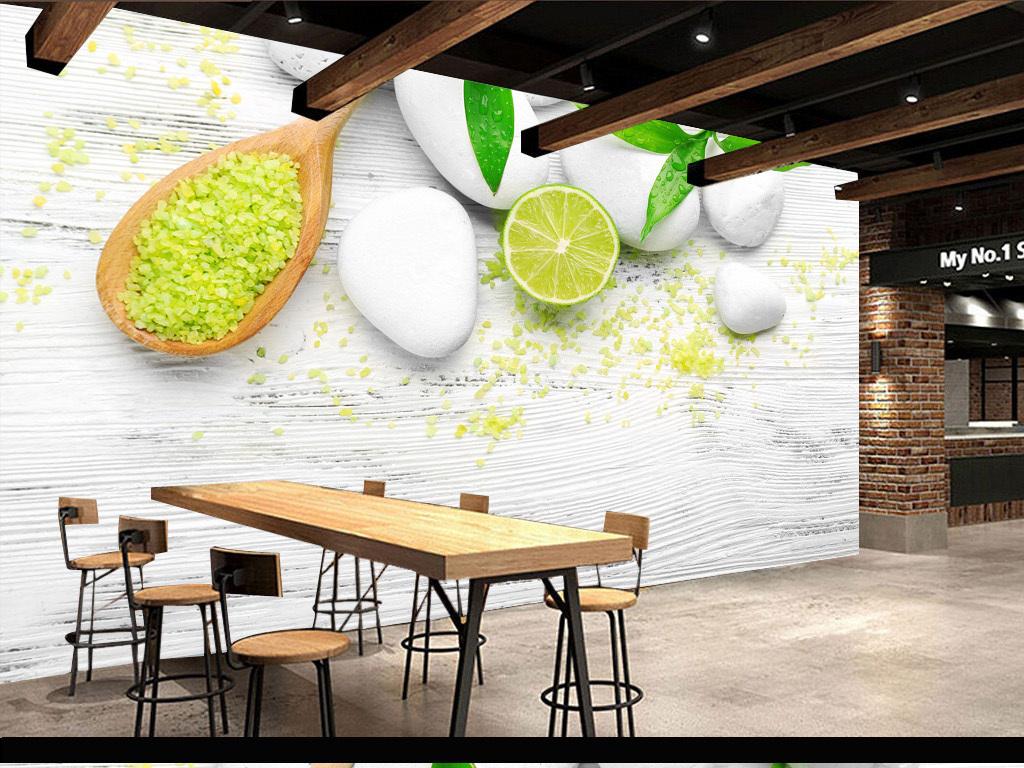 高清复古木纹餐厅背景墙