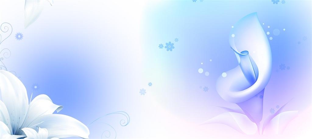 淡雅蓝色花卉海报背景图